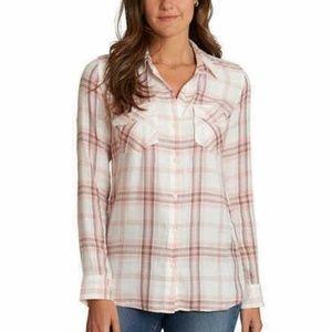 NWT Jessica Simpson Petunia Button-Up Shirt Small